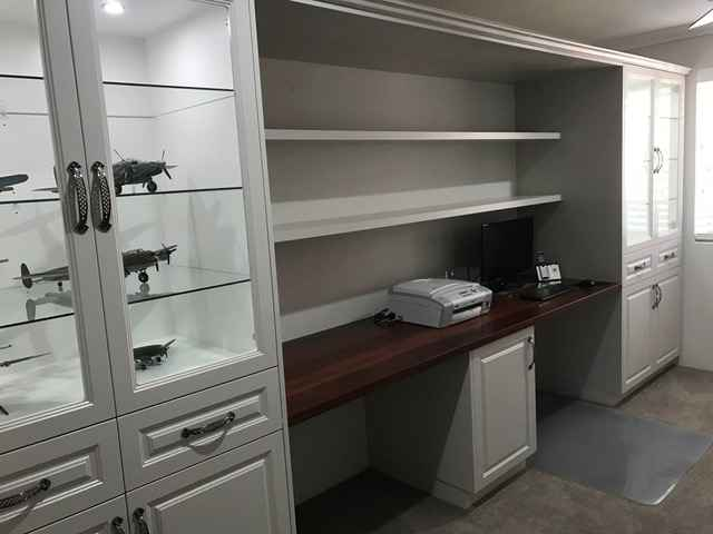 New home office cabinets