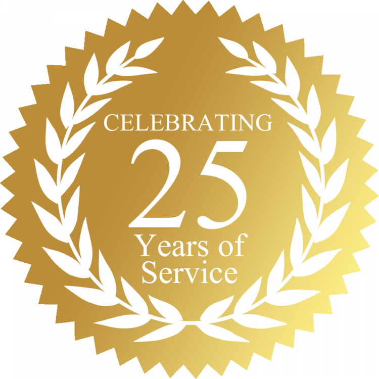 25 Years of Service e1544500145120