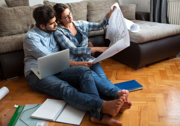 ADVICE Generic image of a couple planning to renovate Photo iStock rrqrtc